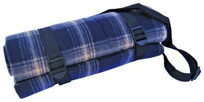 Picnic Rug  Acrylic Fleece PVC waterproof back 150x130cm with shoulder strap