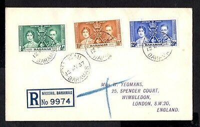 (Ref-8913) Bahamas  1937 Coronation   First Day Cover  SG.146/148
