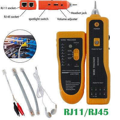 Telephone / Network Cable Tester RJ45 RJ11 Wire Tracker Tracer Line Finder 3km