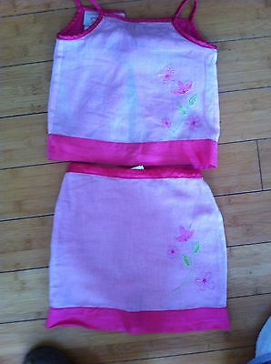 Girls Pink Top And Skirt By Laura Ashley Age 3