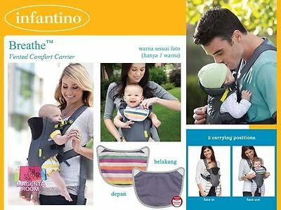 Infantino Breathe Vented Carrier, Grey w/ Bib and Instructions