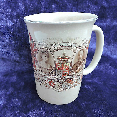 Silver Jubilee 1935 King George V and Queen Mary ceramic mug