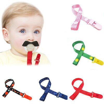 1/3Pcs Pacifier Soother Dummy Holder Clip String Strap Chain With Plastic Clip