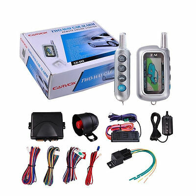 2 Way Car Alarm Remote Control Auto Vehicle Engine Start Security System Kit Gif