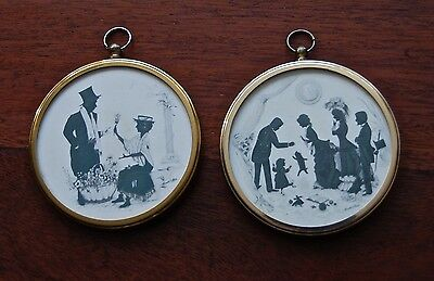 Vintage Pair Of Peter Bates Silhouette Minatures
