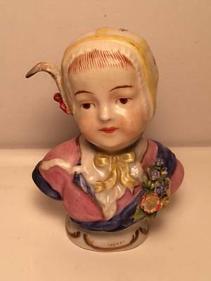 "Antique ""Dresden,Meissen style "" German ? Porcelain child's Bust figurine"