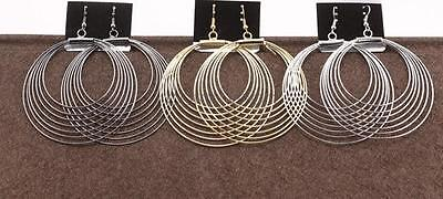 Vogue Unisex Jewelry Charm Drop Round Dangle Drop Party Hoop Earrings Fashion