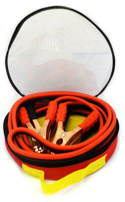 New! 200 Amp Jumper Cables 10 Gauge, No Tangle, Battery Booster 12 Feet, w/Case