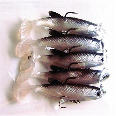 1pcs Rubber Soft Tiddler Silica Lead Fishing Lures Baits Tackle Hooks G: