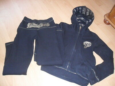 AGE 9 - 10  girls black and gold Pineapple tracksuit dance debenhams