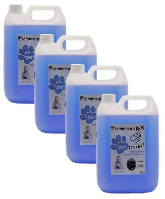 4 X 5L Pet Pride Kennel, Cattery Disinfectant, Cleaner, Deodoriser - BABY TALC