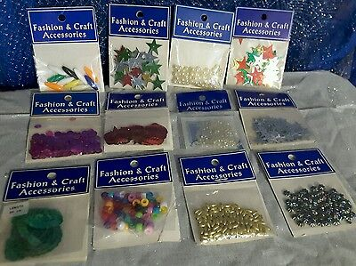 Craft Accessories 12 New Sealed Packets Xmas Gifts !