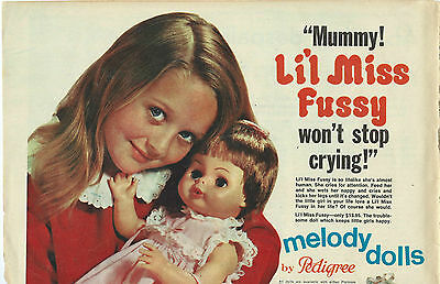Australian Women's Weekly  1968   Add For Pedigree Melody Dolls   Colour  Page