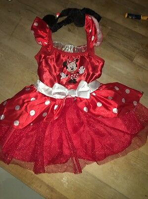 Brand New Mini Mouse Outfit Age 2-3 With Matching Headband
