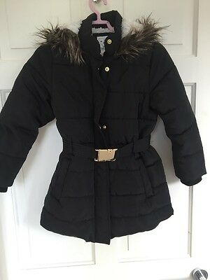 marks and spencer kids winter coats girls size 5-6 years