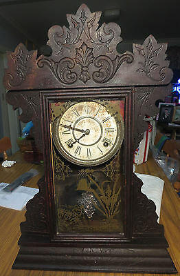 Ansonia Mantle Clock, with key, working order