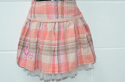 Little Girls Pink Mix Check Skirt UK Age 2-3 Years from TU