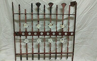 Antique wrought iron garden gate window guard trellis wall art