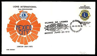 July 1 1972 Mexico City Lions Club Convention First Day Cover