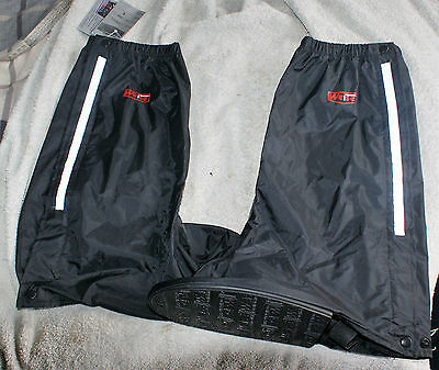 Weise Nylon Black Motorcycle Overboots Large  NOS