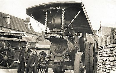 "TR 44  PHOTOGRAPH BURRELL STEAM TRACTION ENGINE No 2083 ""MARSHALL FOCH """