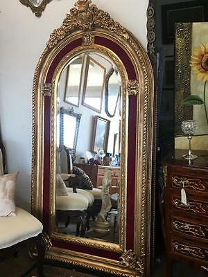 Extra Large Antique French Louis Gold Floor / Mantle Bevelled Mirror..2 Metres