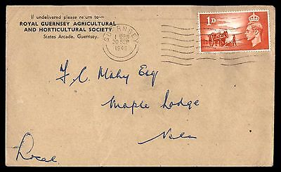 Great Britain/United Kingdom September 30, 1949 Guernsey Uk 1 D Rate Cover To Ma