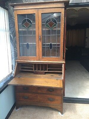 Antique Arts And Crafts Writing Bureaux And Bookcase