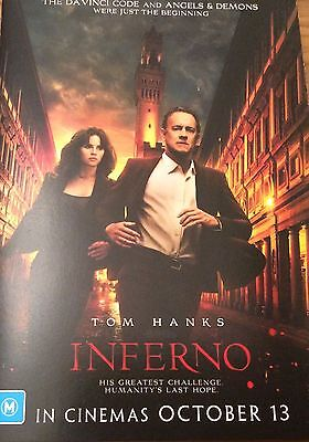 Promotional FLYER ONLY - Tom Hanks in Inferno