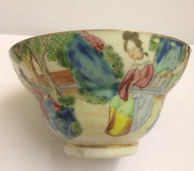 c1820 Antique Fine Chinese Hand Painted Porcelain Bowl ,