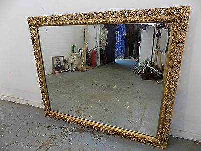 rectangular,wall mirror,gilt,mirror,20C,overmantle,vintage,large,gold,ornate