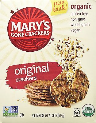 Organic Mary's Gone Crackers 10oz bag 2ct [Gourmet Food / Dairy Free Kosher] NEW