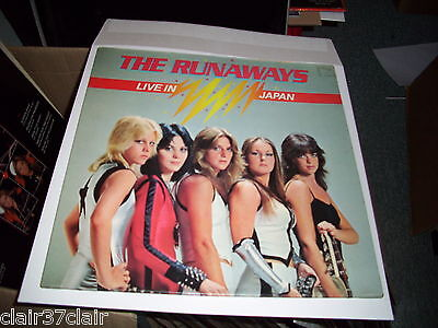 THE RUNAWAYS live in japan gatefold lp french copy