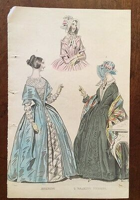 c1841 - Costume - Morning And Walking Dresses - Coloured Plate.