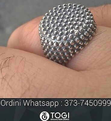ANELLO CHIODATO argento 925 sterling Uomo donna - STREET WEAR JEWELS