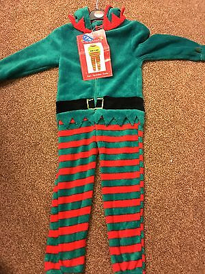 GORGEOUS Unisex Elf Pixie onesie - snuggly. Fancy / dressing up Christmas outfit