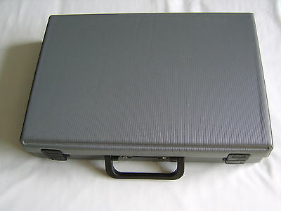 Vintage Carry Storage Case for Cassettes Tapes Grey 32 Capacity