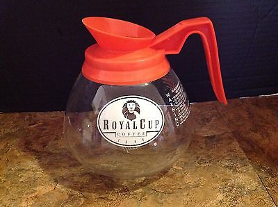 Glass Commercial Coffee Pots Carafes Schott Duran Orange Decaf Royal Cup Coffee