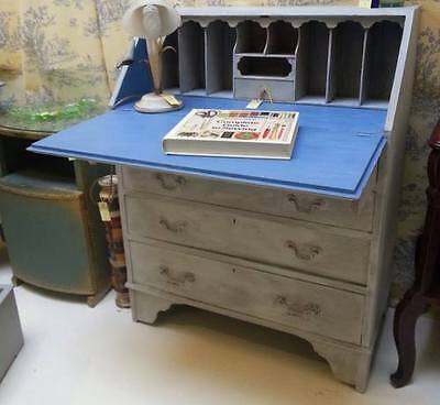 Edwardian Painted Bureau/Writing Desk/Dressing Table in Paris Grey