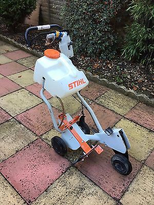 Stihl Petrol stone saw cutter cart