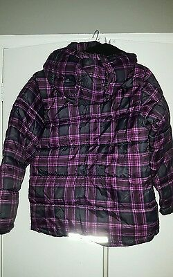 Girls H&M check padded coat, 11-12 yrs, good condition