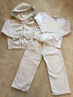 Girls Bonpoint Grey Tracksuit & T Shirt Age 3 Years