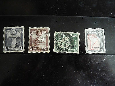 British Guiana - 4 used stamps mount hinged