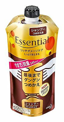 From Japan,Kao Essential Rich Damage Care Shampoo,340ml,Refill