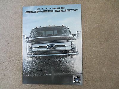 2017 Ford Super Duty All New Aluminum Body Brochure New And Very Cool