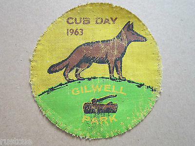 Gilwell Park Cub Day 1963 Cloth Patch Badge Boy Scouts Scouting