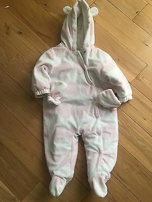 Baby Girls Next Winter All In One Snowsuit 12-18 Months