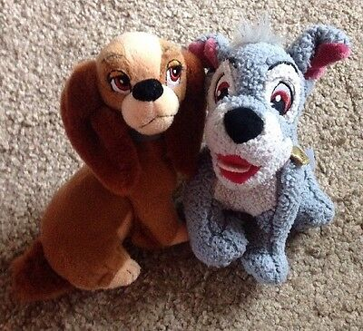 """Disney Lady and The Tramp Plush Soft Toys Comforters 9-10"""""""