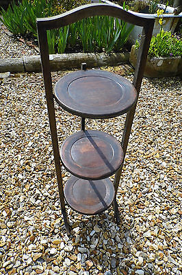 cake stand 3 tier shabby chic Vintage wooden folding shabby chic