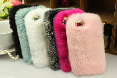 NEW Fuzzy Warm Plush Hard Case Cover Skin for iPhone 7 8  plus 6 6S PLUS